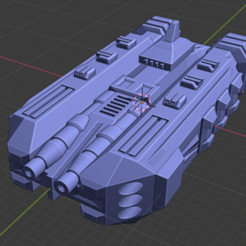 Cerberus Class BB-Sup.PNG Download free STL file Stars and Steel Ship Miniatures • 3D print template, Go0gleplex