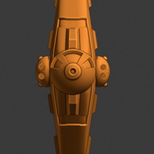 Vex Class Fighter-bow.PNG Descargar archivo STL gratis Full Thrust Starship Miniature  • Plan de la impresora 3D, Go0gleplex
