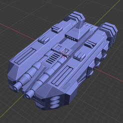Hellhound Class BC.PNG Download free STL file Stars and Steel Ship Miniatures • 3D print template, Go0gleplex