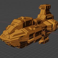Bedlam Class FF.PNG Download free STL file Full Thrust Starship Miniature  • Design to 3D print, Go0gleplex