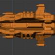 Menace Class BC-profile.PNG Descargar archivo STL gratis Full Thrust Starship Miniature  • Plan de la impresora 3D, Go0gleplex