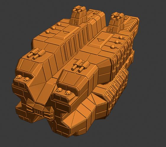 Plague Class CV.PNG Descargar archivo STL gratis Nave estelar de empuje completo en miniatura • Plan de la impresora 3D, Go0gleplex