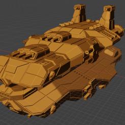 Menace Class BC.PNG Download free STL file Full Thrust Starship Miniature  • Design to 3D print, Go0gleplex