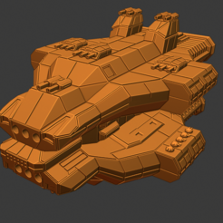 Ruin Class DN.PNG Download free STL file Full Thrust Starship Miniature  • Design to 3D print, Go0gleplex