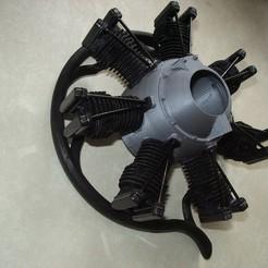 IMGP4807.JPG Download STL file Radial Engine Dummy • 3D print object, wernersen