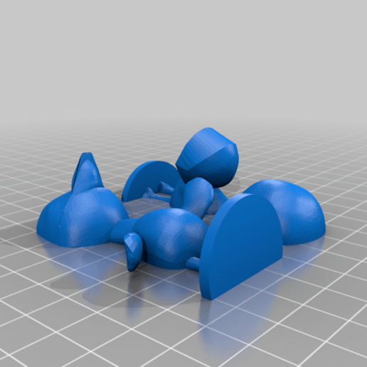 flora_split.png Download free STL file Flora - Animal Crossing • 3D print object, skelei
