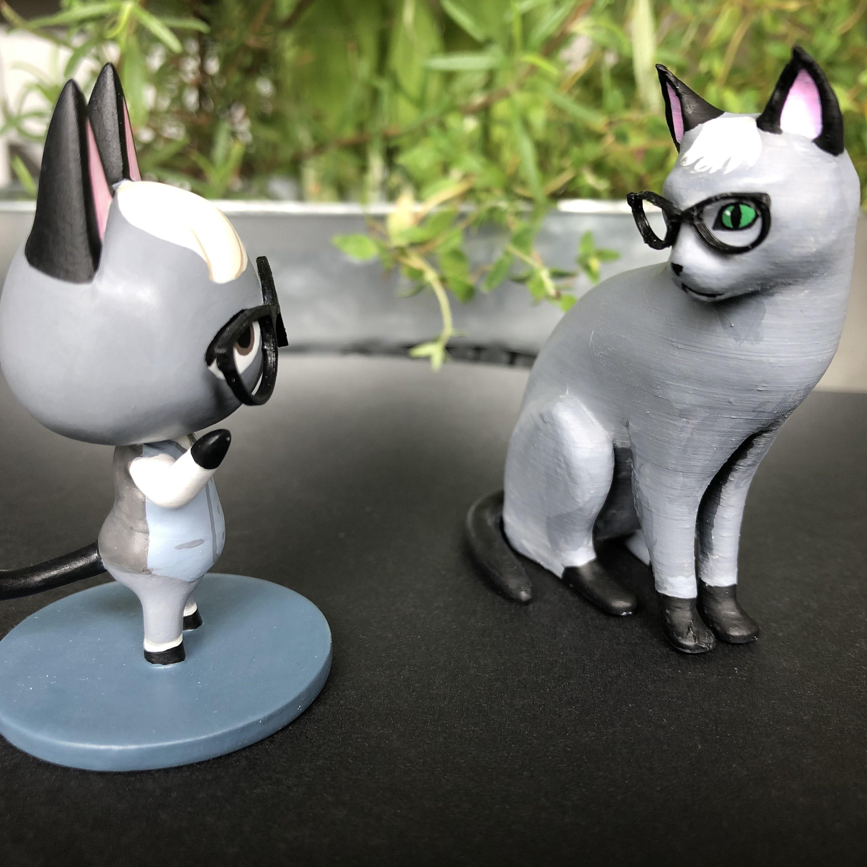 IMG_5738.jpg Télécharger fichier STL gratuit Réaliste Raymond Cat - Animal Crossing • Plan pour imprimante 3D, skelei