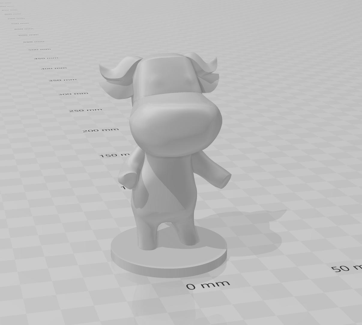 ac bull model.PNG Download free STL file Animal Crossing Bull • 3D printing object, skelei
