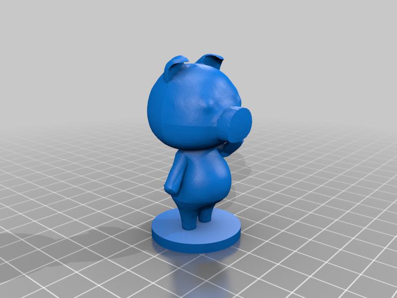 agnes_full.png Download free STL file Agnes - Animal Crossing • Design to 3D print, skelei