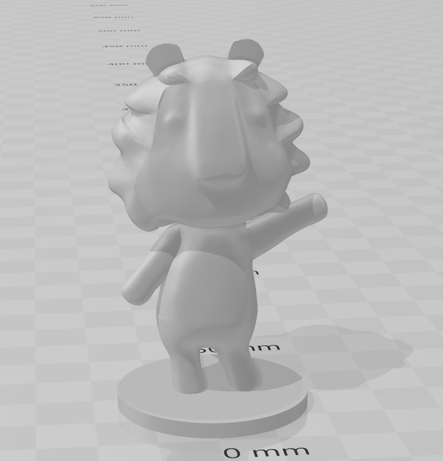 lion.PNG Download free STL file Rex - Animal Crossing • 3D printable object, skelei