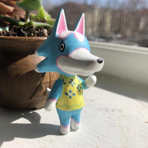 IMG_5072.jpg Download free OBJ file Animal Crossing Wolf • 3D printer design, skelei