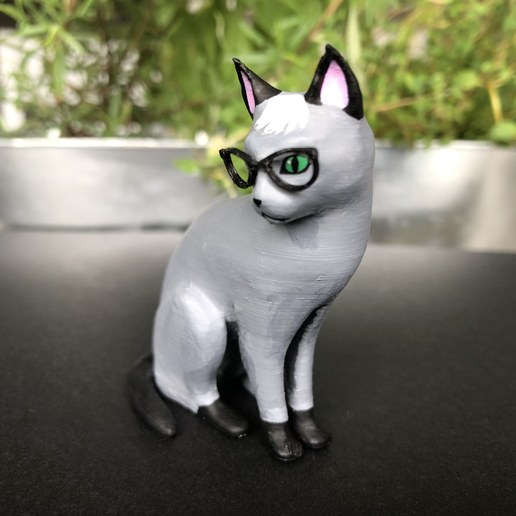 Download free 3D printer designs Realistic Raymond Cat - Animal Crossing, skelei