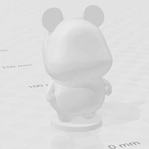 hamster.PNG Download free STL file Hamster - Animal Crossing • Object to 3D print, skelei