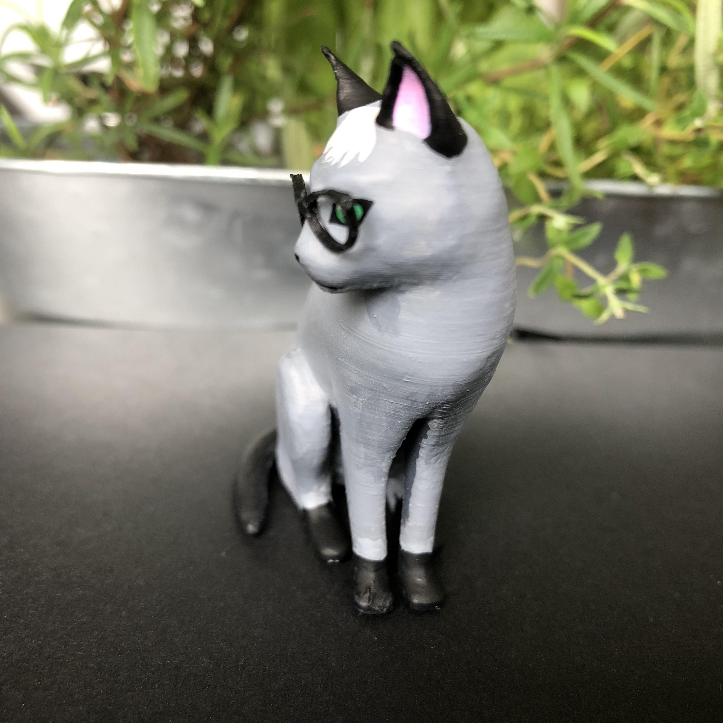 IMG_5725.jpg Download free STL file Realistic Raymond Cat - Animal Crossing • 3D printing object, skelei