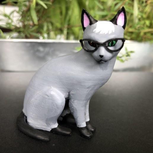 IMG_5735.jpg Download free STL file Realistic Raymond Cat - Animal Crossing • 3D printing object, skelei