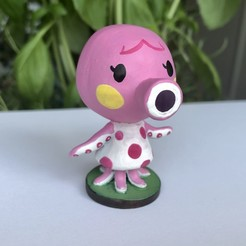 Descargar modelo 3D gratis Marina Animal Crossing, skelei