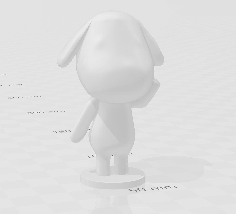 goldie.PNG Download free STL file Goldie Animal Crossing • Template to 3D print, skelei