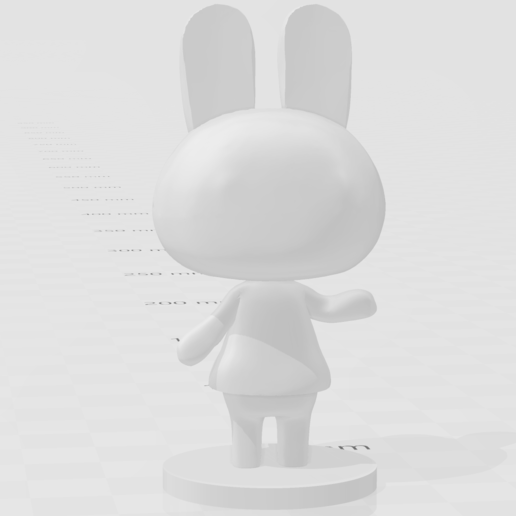 dotty.PNG Download free STL file Bunny Animal Crossing • 3D printing model, skelei