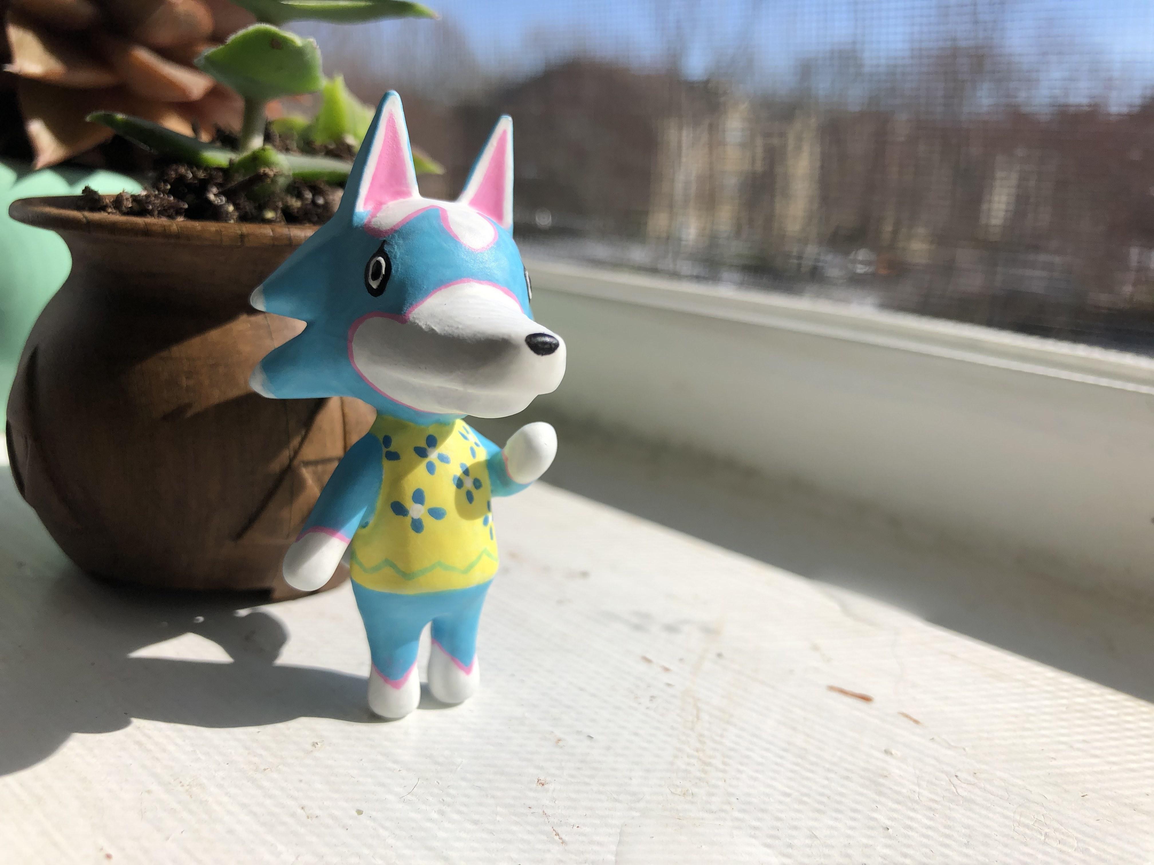 IMG_5071.jpg Download free OBJ file Animal Crossing Wolf • 3D printer design, skelei