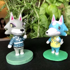 Download free 3D printer model Animal Crossing Wolf, skelei