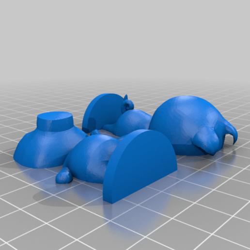 agnes_split.png Download free STL file Agnes - Animal Crossing • Design to 3D print, skelei