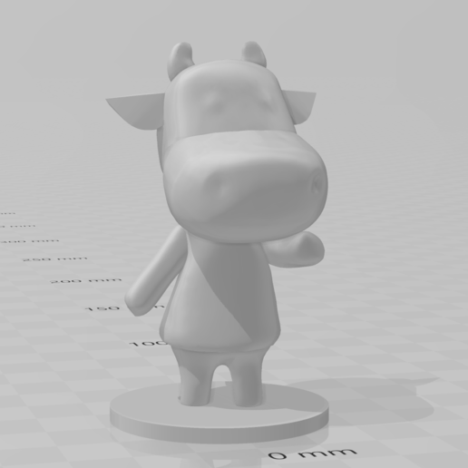ac cow.PNG Download free STL file Animal Crossing Cow • 3D print object, skelei