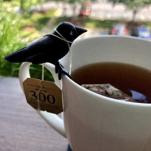 Download free STL file Crow friend for your cup • Design to 3D print, skelei