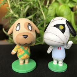IMG_5614.jpg Download free STL file Goldie Animal Crossing • Template to 3D print, skelei