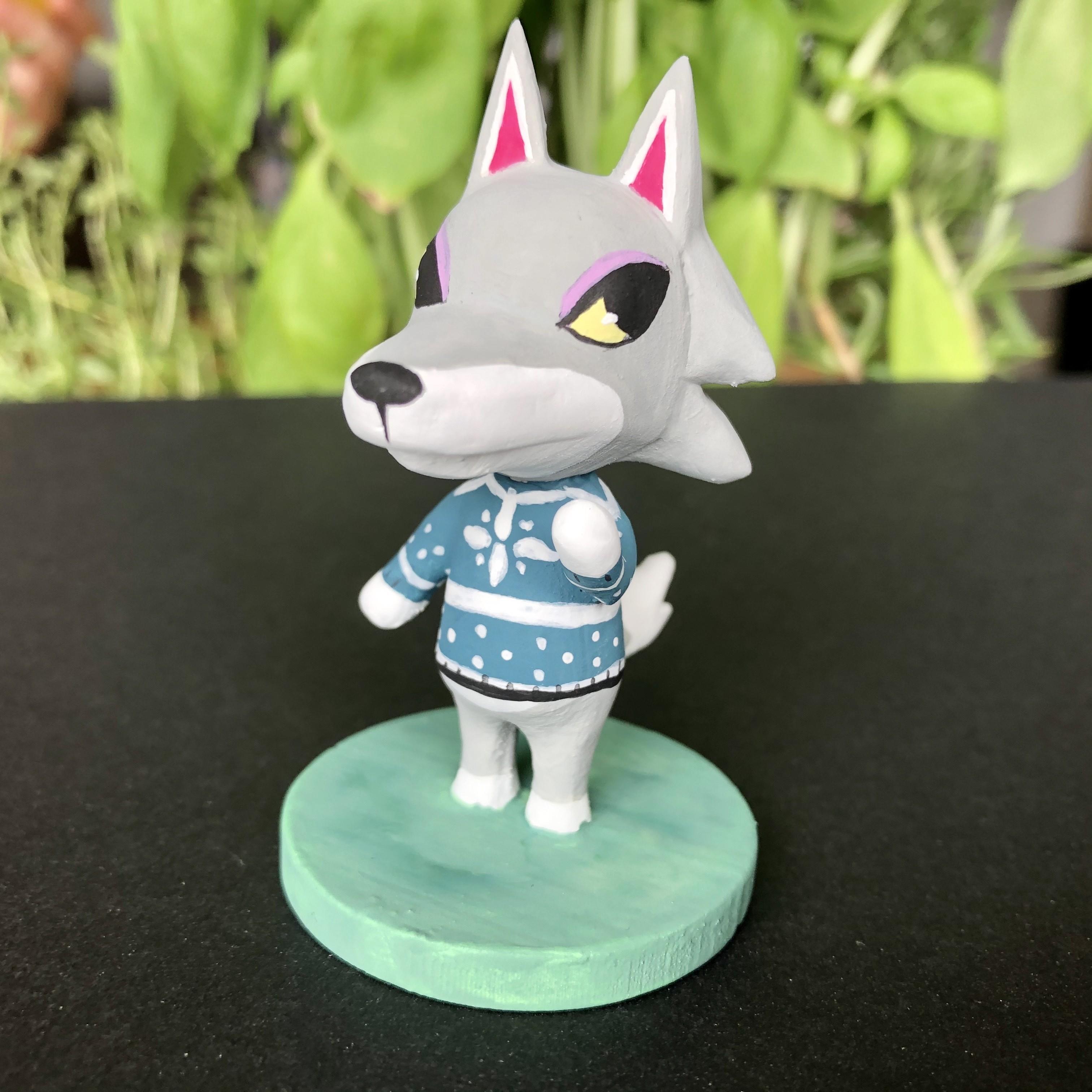 IMG_5568.jpg Download free OBJ file Animal Crossing Wolf • 3D printer design, skelei
