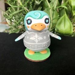 Download free STL file Penguin - Animal Crossing • 3D printer model, skelei
