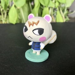 Download free 3D printing files Animal Crossing Marshal, skelei