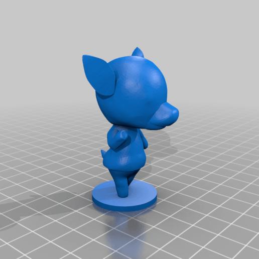 diana_full.png Download free STL file Diana - Animal Crossing • 3D printing template, skelei