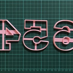 IMG-5931.jpg Download STL file Number Cookie cutter set • 3D print template, martinezailen98
