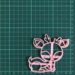 Descargar diseños 3D Deer Cookie Cutter, martinezailen98