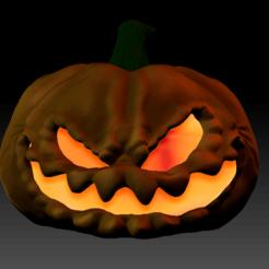 Sin título3.png Download STL file Halloween MONSTER PUMPKIN • 3D printer template, calaverd