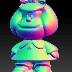 mafalda.jpg Télécharger fichier STL Mafalda -Quino • Objet à imprimer en 3D, calaverd