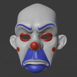 bozo-0.jpg Download free STL file Bozo: Joker Bank Mask (The Dark Knight) • 3D printing template, MustardKhunt