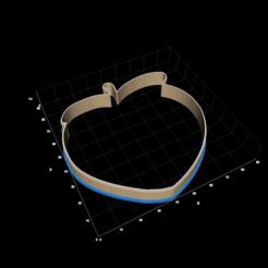 Screen Shot 2021-01-11 at 8.29.46 PM.png Télécharger fichier STL Coupe-biscuit Emoji à la pêche • Objet pour imprimante 3D, tsweet730