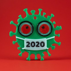 2020-Ornaments-3.jpg Download STL file 2020 COVID Christmas Ornament • 3D printable model, tsweet730