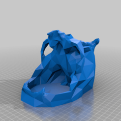 DM-Skull.png Download free STL file Low-Poly Skull Dice Tower, DM Edition • 3D printer model, BeInspiredwithDominic