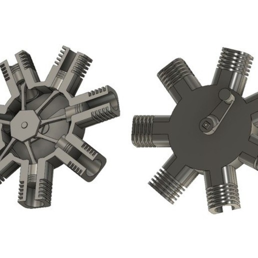 7.JPG Télécharger fichier STL gratuit Modèle de moteur radial à 7 cylindres • Design pour imprimante 3D, MinMunchKin