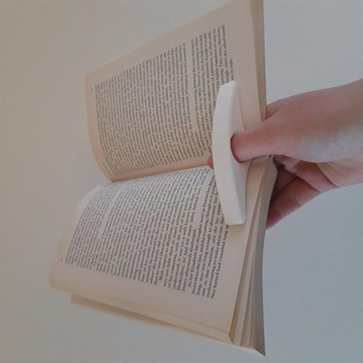 20200317_112946.jpg Télécharger fichier STL gratuit Porte-pouce de livre • Objet imprimable en 3D, MinMunchKin