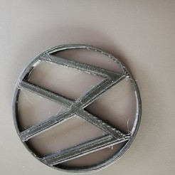 Download free OBJ file VW Glass coasters • 3D printer template, alexanderer40