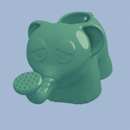 Download free 3D printing models One Punch Man Elephant Watering can, derart