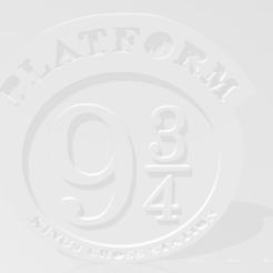 Télécharger fichier STL gratuit plate-forme 9 3/4 sous-verre/signe • Plan à imprimer en 3D, kentoki
