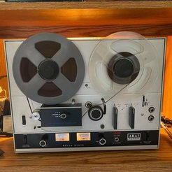 """ExampleOldPhoto.jpg Download STL file  1/4"""" Reel To Reel Tape Recorder Player Rubber Stoppers • 3D print model, HostagePotatoChips"""