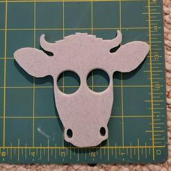 Cow Self Defense Buddy.jpg Download STL file Cow Self Defense Buddy Tool Keychain • Object to 3D print, HostagePotatoChips