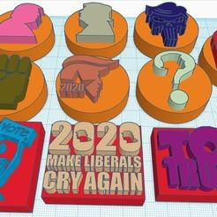 Capture.JPG Download STL file Donald Trump Stamps for Clay, Play-Doh etc.. • 3D print model, HostagePotatoChips