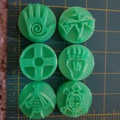 NativeAmericanSymbols.jpg Download STL file Native American Symbols stamps for Clay or Play-Doh • 3D printing design, HostagePotatoChips