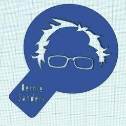BernieSandersCoffeeStencil2.JPG Télécharger fichier STL Pochoir à café Bernie Sanders • Modèle imprimable en 3D, HostagePotatoChips